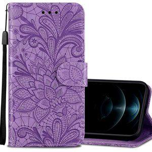 iPhone 12 Pro Max 5G Purple Floral Phone Case